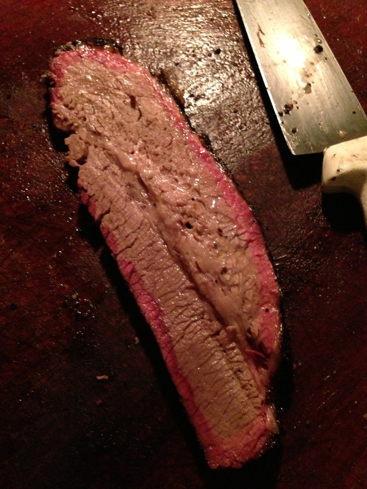 cutting brisket